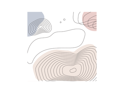 t o p o  100days illustrator shapes lines abstract topography