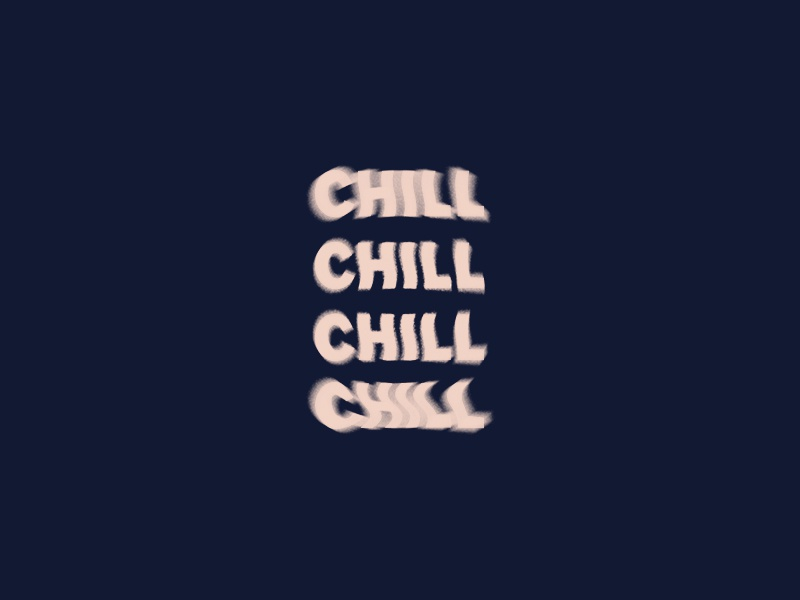 chill chill glitch illustrator type