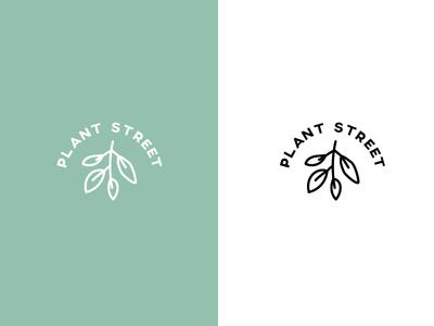 plantstreet branding logo mark plant logo
