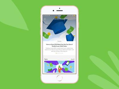 Acorns —Grow Lander art direction knowledge finance illustrators app illustration art direction