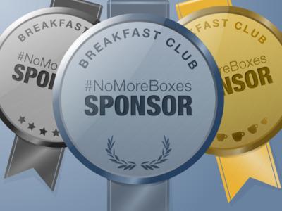 Silver, Gold and Platinum Sponsor Badges for #NoMoreBoxes