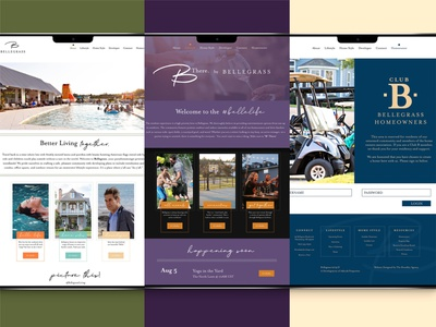 Bellegrass identity ui design website design website layout layout web development web design website