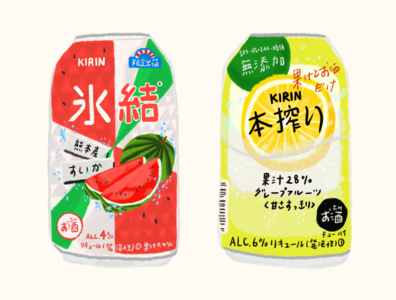 KIRIN Chuhai - fruity alcohol drink
