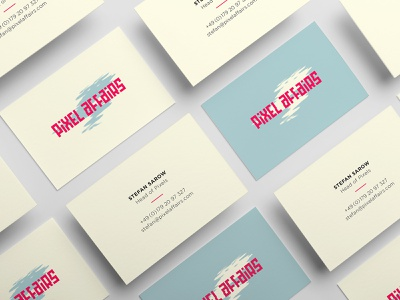 Business Cards for «pixel affairs« design typography branding logo visual design corporate design business card design businesscard
