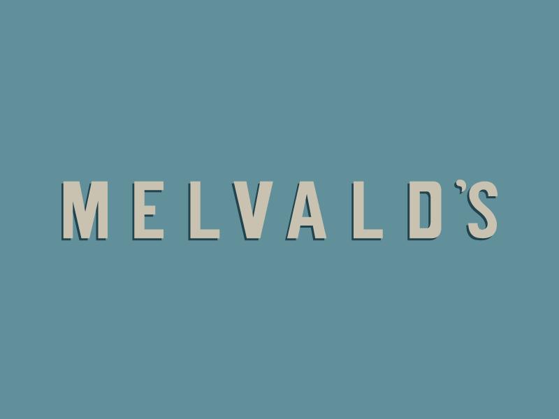 MELVALD'S Typeface 80s style typography logo design letters lettering illustration 80s logo colorscheme design typeface