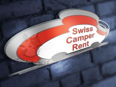 presentation logo for a camper rental company