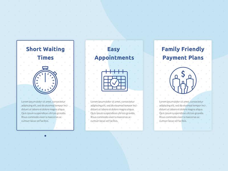 Blue Oak Dental Selling Points website branding web minimal illustration design