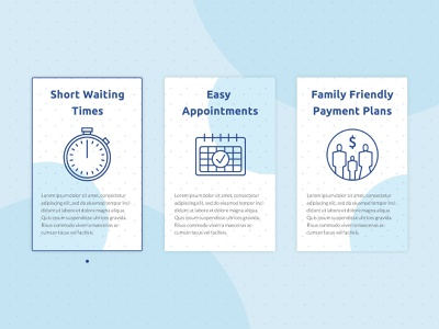Blue Oak Dental Selling Points website branding web minimal illustration design