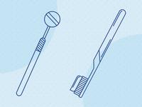 Blue Oak Dental Illustrations illustrator flat minimal icon branding web design illustration
