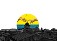TOUCH sardegna alghero italy collage maker concept illustrator abstract art abstract collage art illustration collage design archi̇tecture