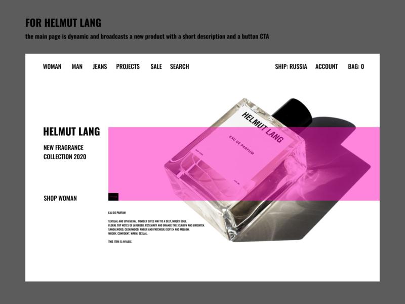 FOR HELMUT LANG website minimal typography ux branding ui design