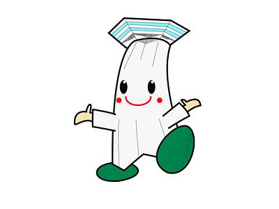 Gota-Kun mascot photoshop illustration