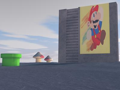 Mario Day 2021 retro gaming nintendo mario bros mario photoshop digital art cinema 4d cinema4d illustration c4d
