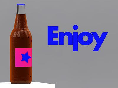 Bottle Practice soda photoshop digital art c4d cinema4d
