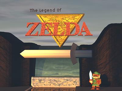 Legend of Zelda Reimagined Title after effects arcade animate retro gaming motiongraphics motion design modeling digital art cinema4d c4d