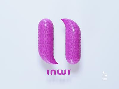 inwi logo cinema4d design branding 3d artist logos 3d art
