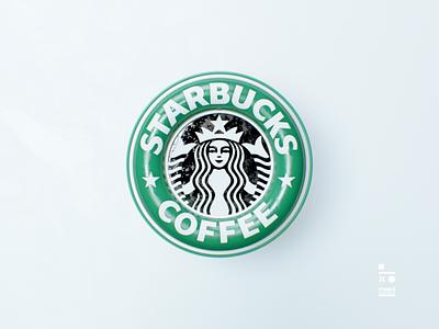starbucks logo logo design animation logo cinema4d illustration typography 3d art