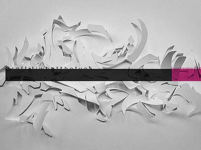 Digital Graffiti graffiti alphabets 3d art cgi typography design illustration