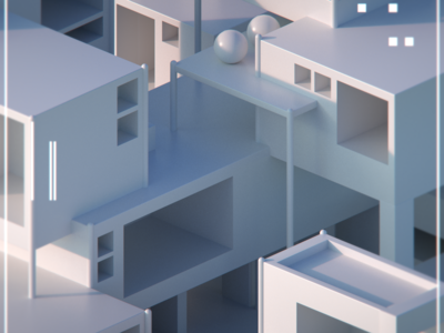 _isometric _Town _Cley Render
