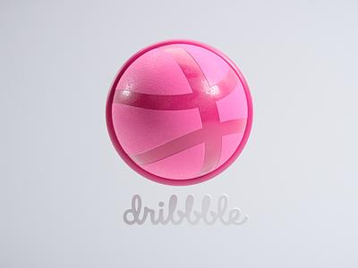 002_ Dribbble loop #LogoMonth 3d art design branding cinema4d cgart logo dribbble