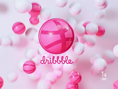 dribbble logo cinema4d loop animation logo dribbble