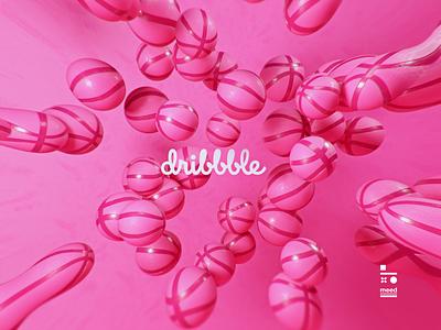 dribbble logo cinema4d dribbble design 3d art