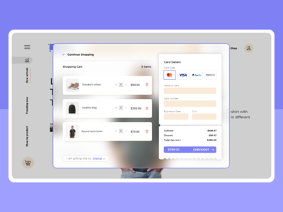 Checkout Page - Ecommerce Platform ui cart checkout page branding clean ui minimalist ux  ui minimal ui interface design interface adobexd