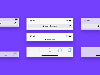 Mobile Browser Bars for Sketch
