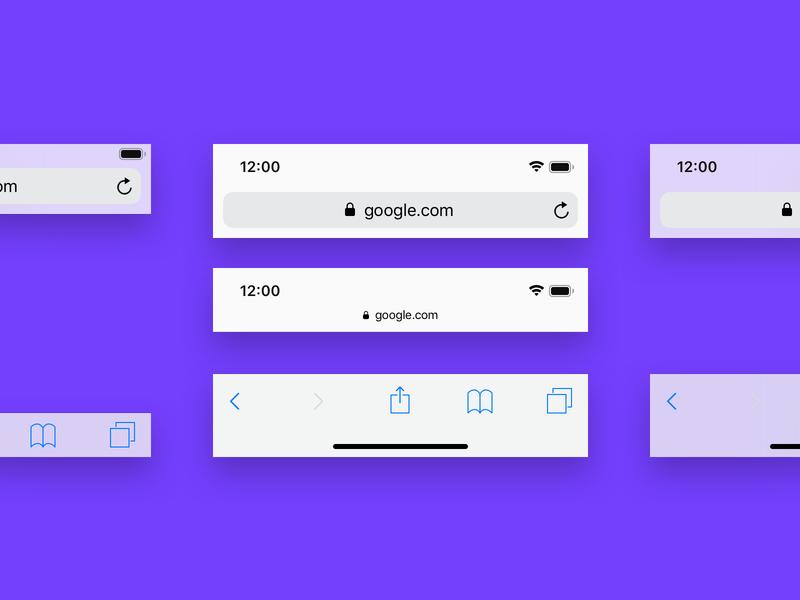 Mobile Browser Bars for Sketch ux design interaction download sketch bars browser ui