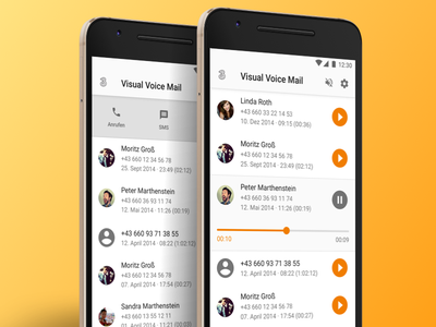 Visual Voicemail Concept visual voicemail ui mobile android