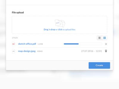 File upload and progress