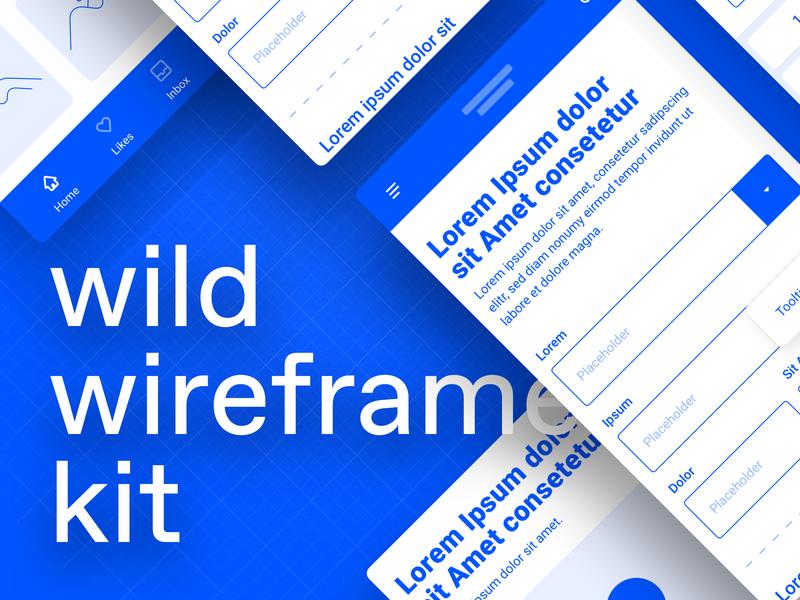 wild wireframe kit design user interface app mobile kit ui wireframes wireframe kit