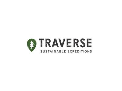 Traverse Sustainable Expeditions sustainable idenity logotype branding brand texture minimal icon typography vector logo design