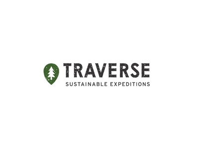 Traverse Sustainable Expeditions sustainable idenity logotype branding brand texture minimal icon typography vector logo design