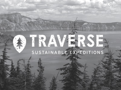 Traverse Sustainable Expeditions nature graphic logotype texture photography sustainable identity branding design iconography icon sans serif logo brand