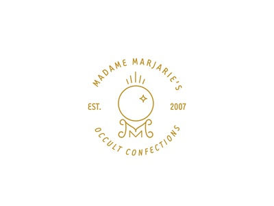 Madame Marjarie's Occult Confections visual identity branding adobe vector iconography branding design logotype idenity graphic design logo icon brand