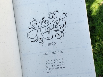 August 2020 graphicdesign illustration floral lettering organization typography design