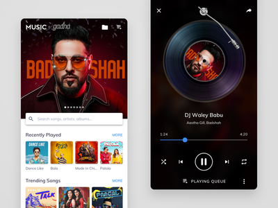 MX Player – Songs music player music songs video player audio player ui streaming service streaming app bollywood android app design