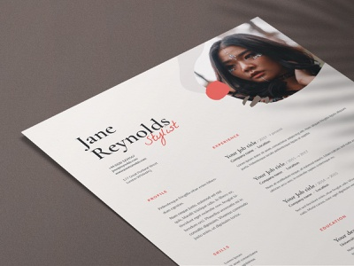 Jane | CV / resume template lato garamond serif print coverletter creativemarket curriculum vitae a4 wild organic template cv resume cv