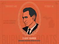 Claude Shannon Portrait for Coolhouse Labs