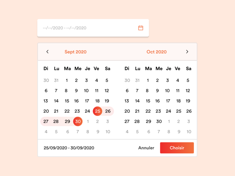 Booking Component orange form input date datepicker uiux ux ui calendar ui component calendar booking