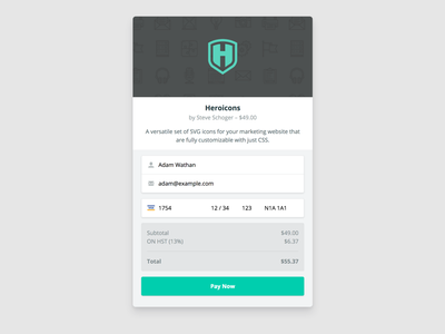 Checkout Widget credit card form checkout