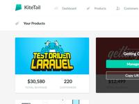 KiteTail Product Cards web ui admin saas