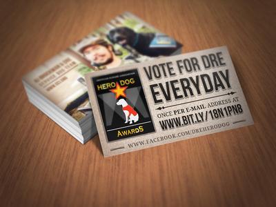 Hero Dog Voting Cards