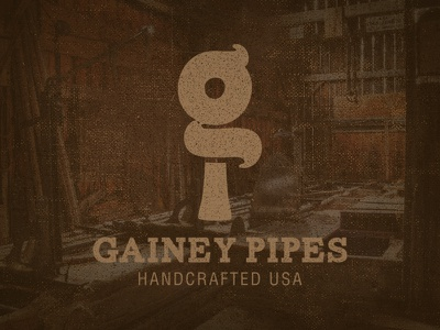 Eric Gainey Pipes | Logo retro print vintage old typography hand lettering pipe smoking international branding wood