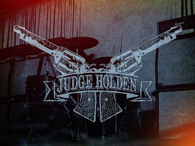 Judge Holden | Logo retro branding vintage typography hand lettering logo banner guns hardcore punk rock