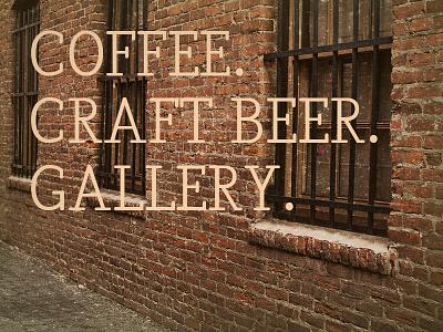Name Help? coffee beer gallery studio vintage hand lettering logo print typography