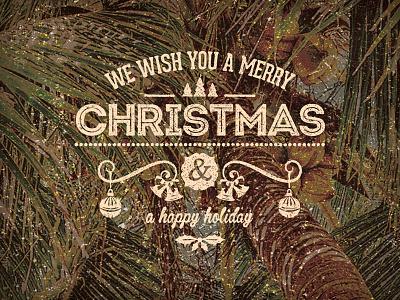 Merry Christmas Dribbbler's christmas emblem palm tree holidays studio vintage hand lettering logo print typography