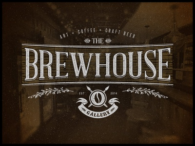 The Brewhouse Gallery | Logo art coffee craft beer studio vintage hand lettering logo print typography
