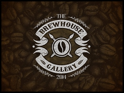 The Brewhouse Gallery | Emblem art coffee craft beer studio vintage hand lettering logo print typography